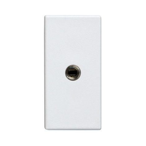 Conector mini jack 3.5mm medio elemento Simon 27 Play Blanco