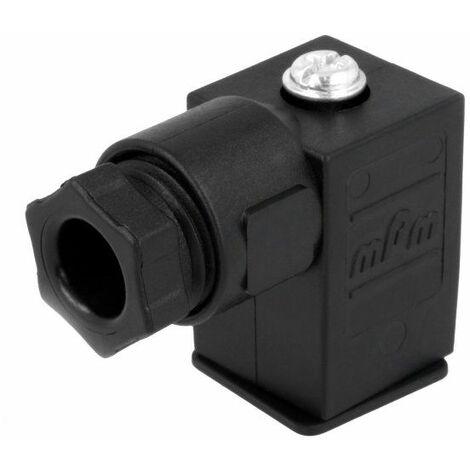 Conector mPm® para electroválvulas Negro 2 + tierra cuadrado 9.4mm