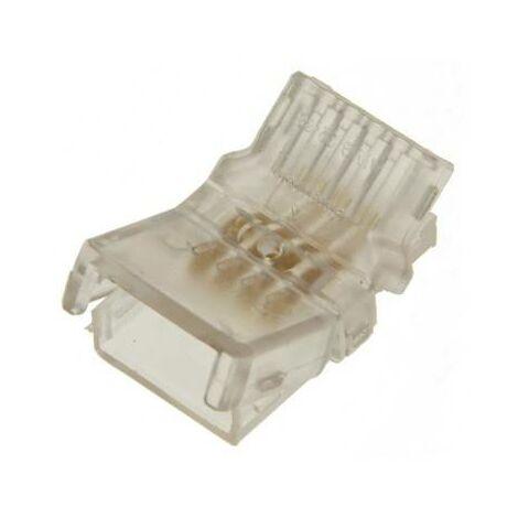 Conector rápido estanco 4 pin RGB - Tira a cable PCB 10mm IP66 - Máx. 24V