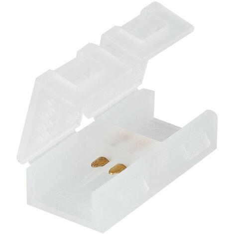 Conector Rápido para Tiras LED 220V AC 100 LED/m IP67 a Medida Corte cada 10 cm Transparente - Transparente
