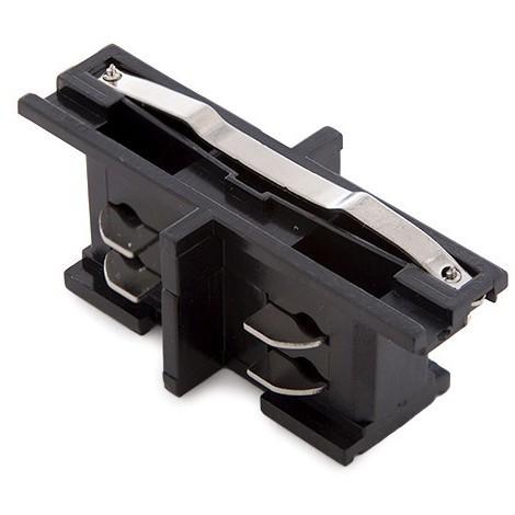 Conector Recto Carril Trifásico Negro (JL-CON---T-B)
