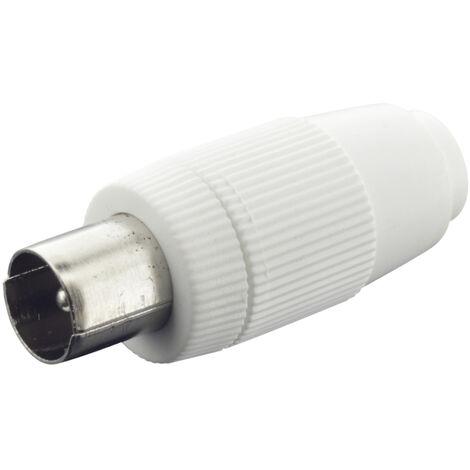 Conector recto de antena coaxial TV DH 10.535/BL