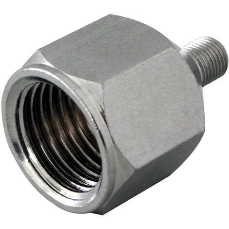 "Conector reductor Aerógrafo rosca macho M5x0.5mm rosca hembra 1/4"""
