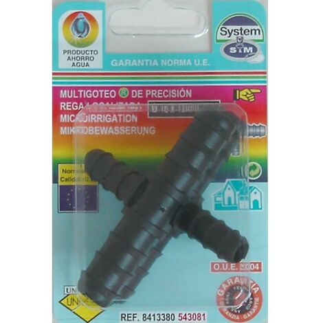 """main image of """"Conector Riego 16-12 Mm Goteo S&m Pp En T Reduc. 543081 2 Pz"""""""