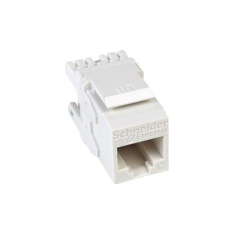 Conector RJ45 Cat5e UTP Keystone Blanc SCHNEIDER ELECTRIC DCEKYSTUWT