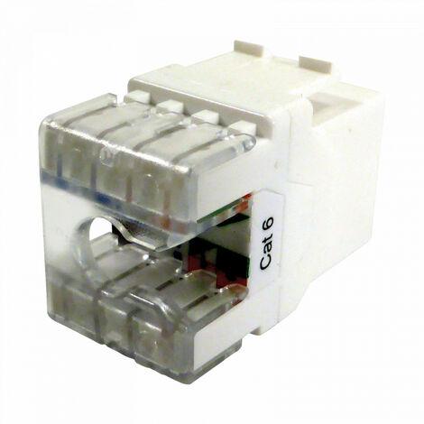 Conector RJ45 Hembra TELEVES UTP Cat-6 Transparente