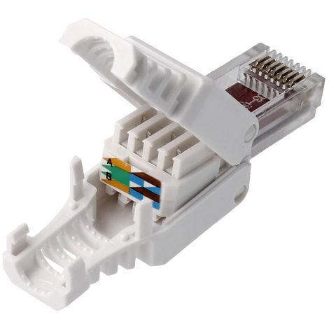Conector Rj45 Utp Cat5e 8p8c Tool-free 72600 No necesita crimpadora