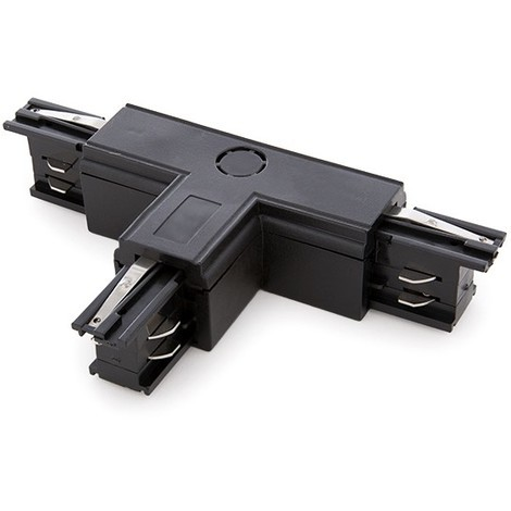 Conector T Carril Trifásico Negro (JL-CON-T-T-B)