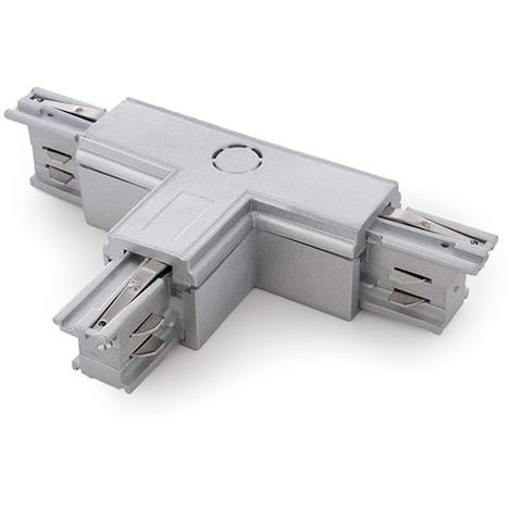 Conector T Carril Trifásico Plata (JL-CON-T-T-P)
