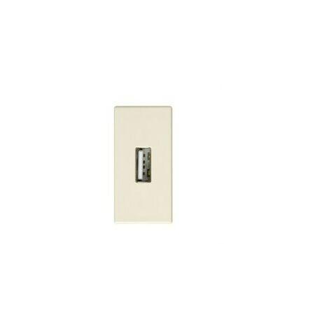Conector tapa USB hembra modulo estrecho Serie 27 Play marfil