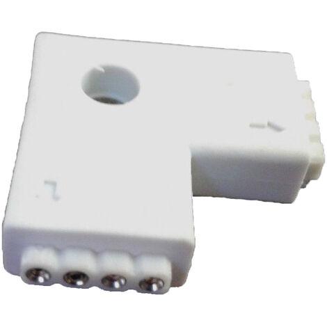 """Conector Tiras LED 5050 RGB 4 PIN en """"""""L"""""""""""
