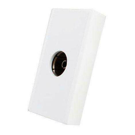 Conector TV blanco para mecanismo de empotrar