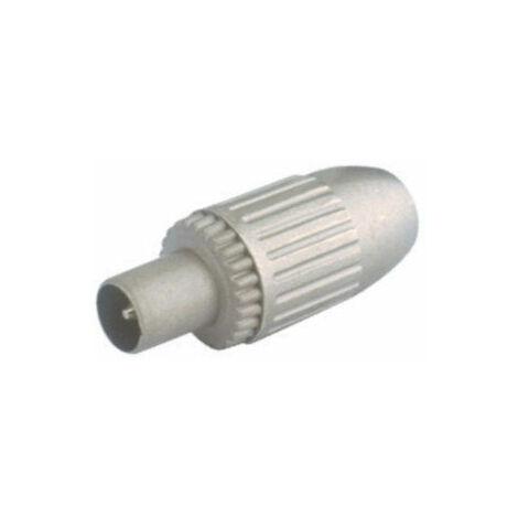 Conector TV de antena coaxial Hembra Blindado Electro DH. Color Metálico 10.534/MET 8430552069347