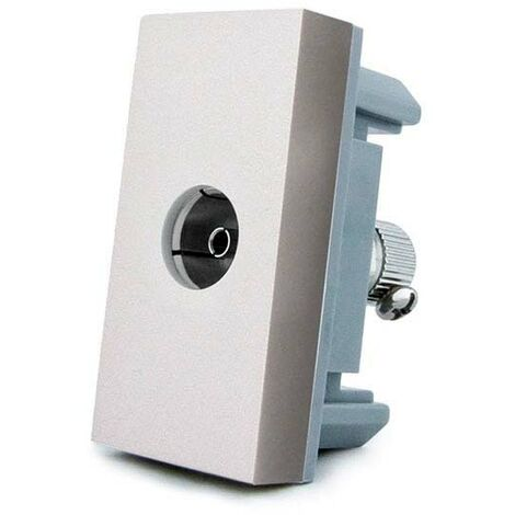 Conector TV gris para mecanismo de empotrar