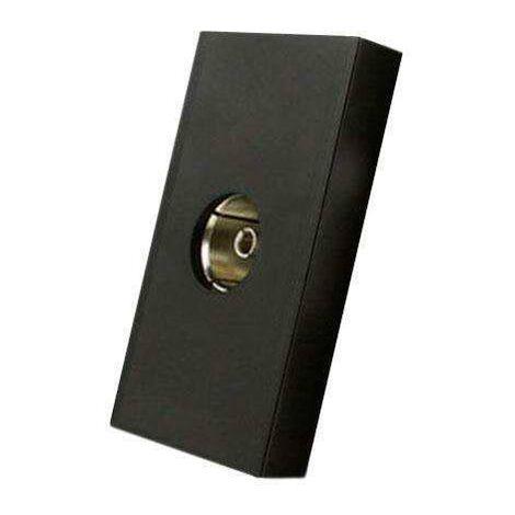 Conector TV negro para mecanismo de empotrar