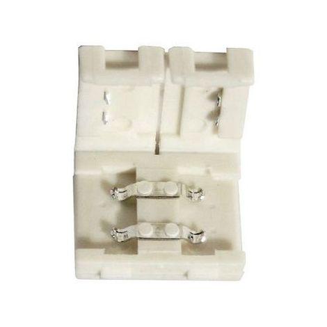 Conector union rigido tira LED 10mm 2 vias Transparente