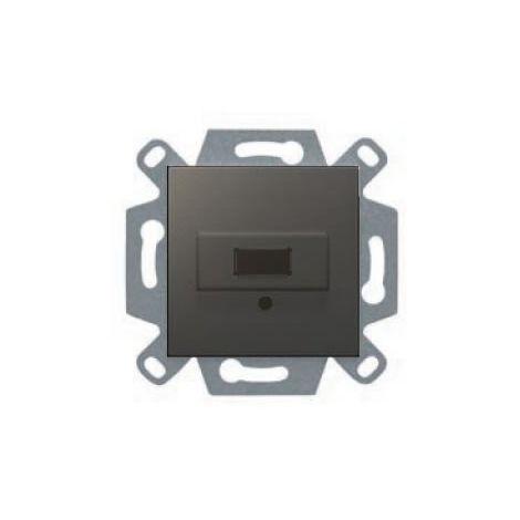 Conector USB gris lava serie VIVA BJC 23578-USB-GL