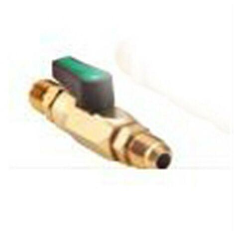 CONECTOR VALVULA BOLA 1/4 mm SE LLAVE PASO GAS REFRIGERANTE