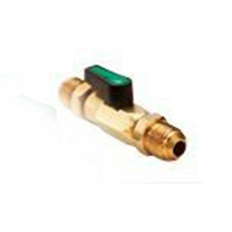 Conector Valvula Bola 3/8 Fl mm Sae Llave Paso Gas Refrigerante