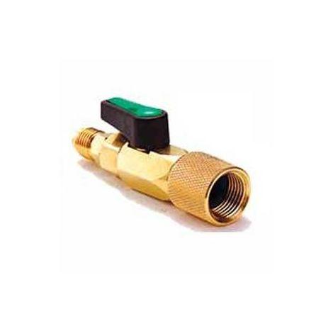 Conector Valvula Bola 5/16 mm Se Llave Paso Gas Refrigerante