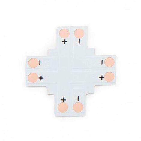 Conector X para tiras monocolor 2 Pin - 8mm