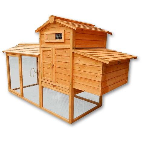 Conejera gallinero caseta conejos roedores pollos gallinas pequeños animales nidos corredor libre