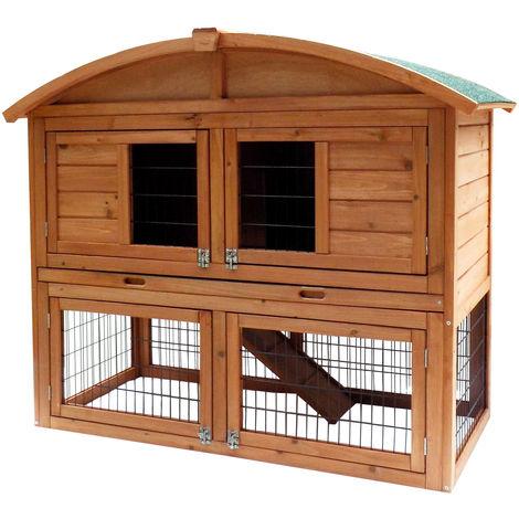 Conejera gallinero corral caseta roedores animales pequeños recinto abierto zona abierta corredor