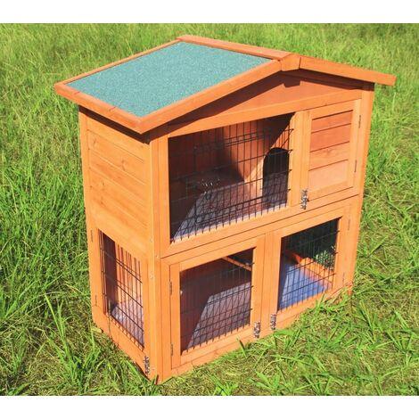 Conejera-gallinero gallinero de madera con nido, casa para conejos con malla metálica para exterior, conejera con base extraíble y cerrojo 100 x 45 x 90 cm