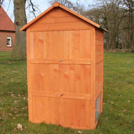 Conejera-gallinero gallinero de madera con nido, casa para conejos con malla metálica para exterior, conejera con base extraíble y cerrojo 106 x 86,5 x 160 cm