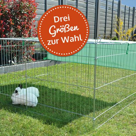 Conejera-gallinero gallinero de madera con nido, casa para conejos con malla metálica para exterior, conejera con base extraíble y cerrojo 1,20 x 0,97 x 0,60 m