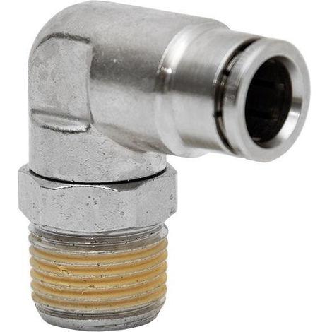 CONEXION CODO TUBO 8mm. ROSCA 1/4 - NEOFERR..