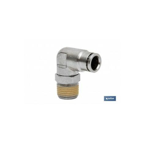 Conexion codo tubo 8mm rosca 18