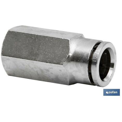 ConexiÓn recta tubo 6mm hembra 14