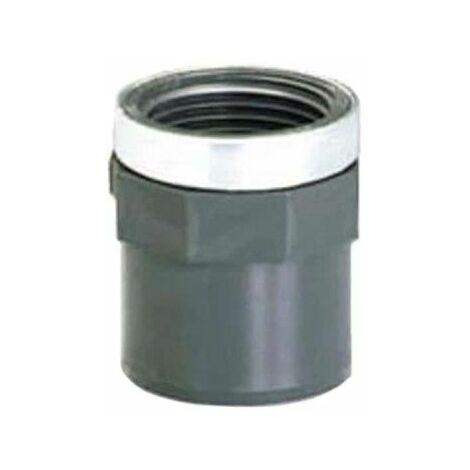 """Conexión roscada de PVC - Presión de pegado - Macho-hembra - PN10 - D50/63 - 1""""1/2 40837N"""