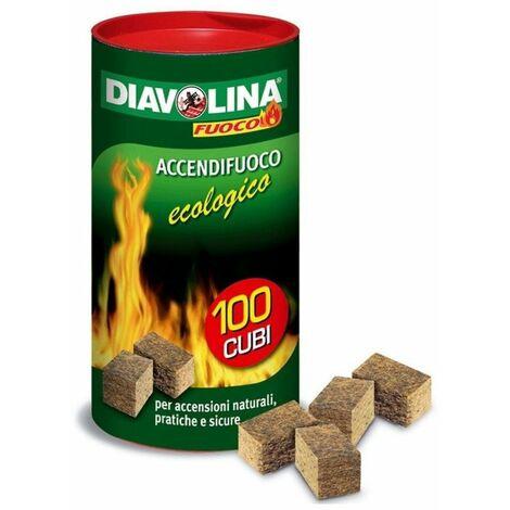 WEBER 17670 Cubetti Accendi Fuoco Diavolina 22 Pezzi Rapidi