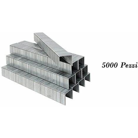 confezione 5000 graffette metalliche 16mm spillatrice sparapunti ricarica 80016