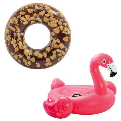 Confezione Boa gonfiabile Chocolate Donut Boa gonfiabile al cioccolato 114 cm di diametro - Boa gonfiabile per fenicotte