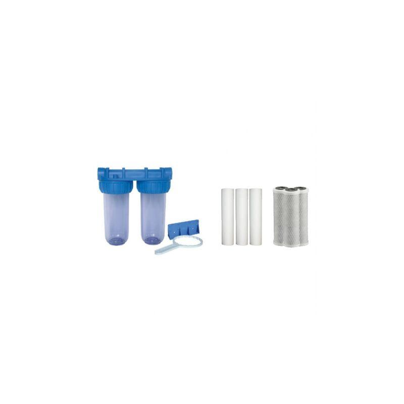 Confezione di acqua filtro porta doppio filtro + 50 e 20 filtro sedimenti Micron NO NAME