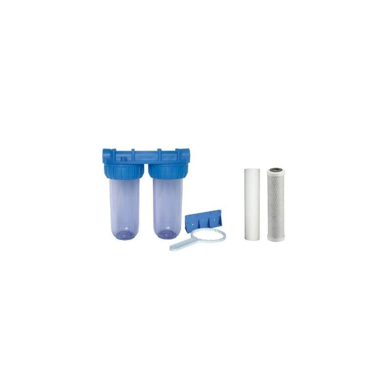 Confezione di acqua filtro porta doppio filtro + 50 e 20 filtro sedimenti Micron