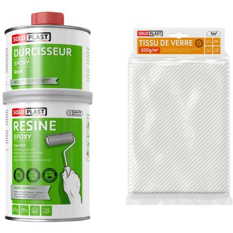 Confezione resina epossidica di tipo R123 Soloplast 1 Kg - Vetro tessuto Roving 300g m2 Soloplast