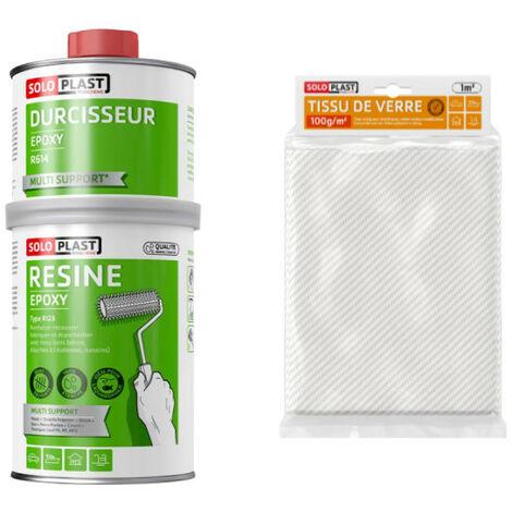 Confezione resina epossidica di tipo R123 Soloplast - Vetro tessuto Roving 100g m2 Soloplast