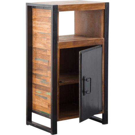 Confiturier industriel métal et bois coloré 1 porte - Naturel