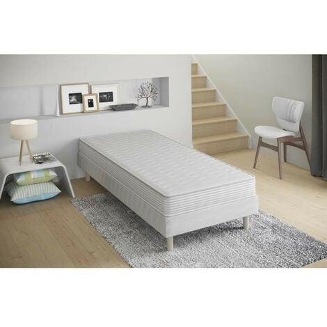 Confort - Ensemble Sommier + Matelas 17cm 90x190