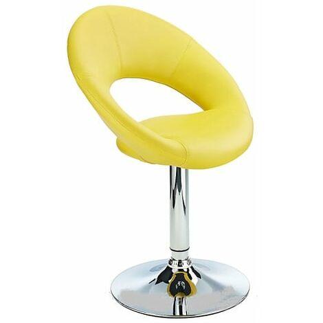 Conga Padded Swivel Modern Kitchen Dining Chair Chrome Frame