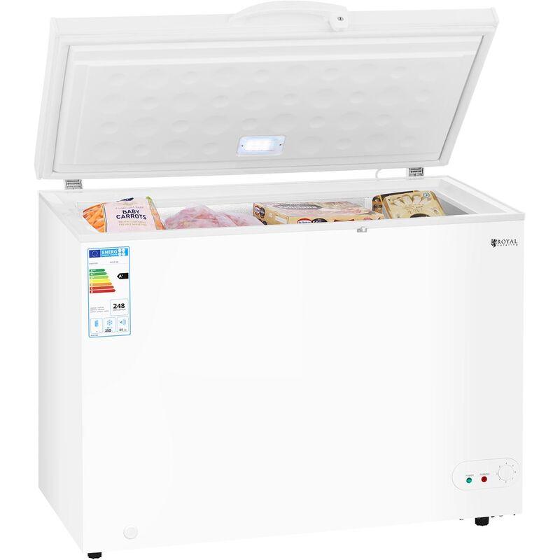 Congélateur Coffre Réfrigérateur Bahut Freezer Classe A+ 252Litres -12 -28°C Led - ROYAL CATERING