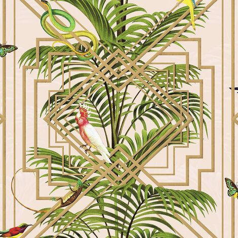 Congo Geometric Wallpaper Pink Holden 90200
