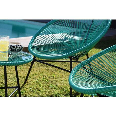 Conjunto 2 sillas jardin acapulco y mesa color verde agua - Kiefer Garden