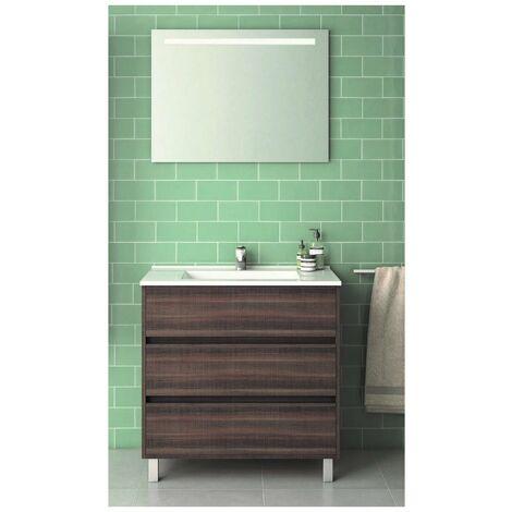 Conjunto ALCOA, Mueble de lavabo 80cm y espejo