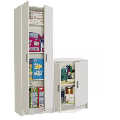 Conjunto Armarios Multiusos, cocina, Medida Total; alto 180cm x ancho 117,5cm x 37cm fondo