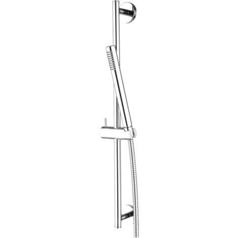 Conjunto barra de ducha latón cromado con ducha de mano mono chorro serie Star   Cromado